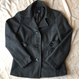 Charcoal wool gap peacoat